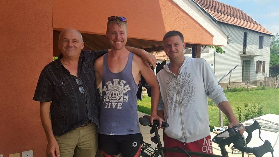 Coincidences are a lot more common when traveling. Here, Liam ran into Alex and John, two Aussies visiting their families in  Serbia.