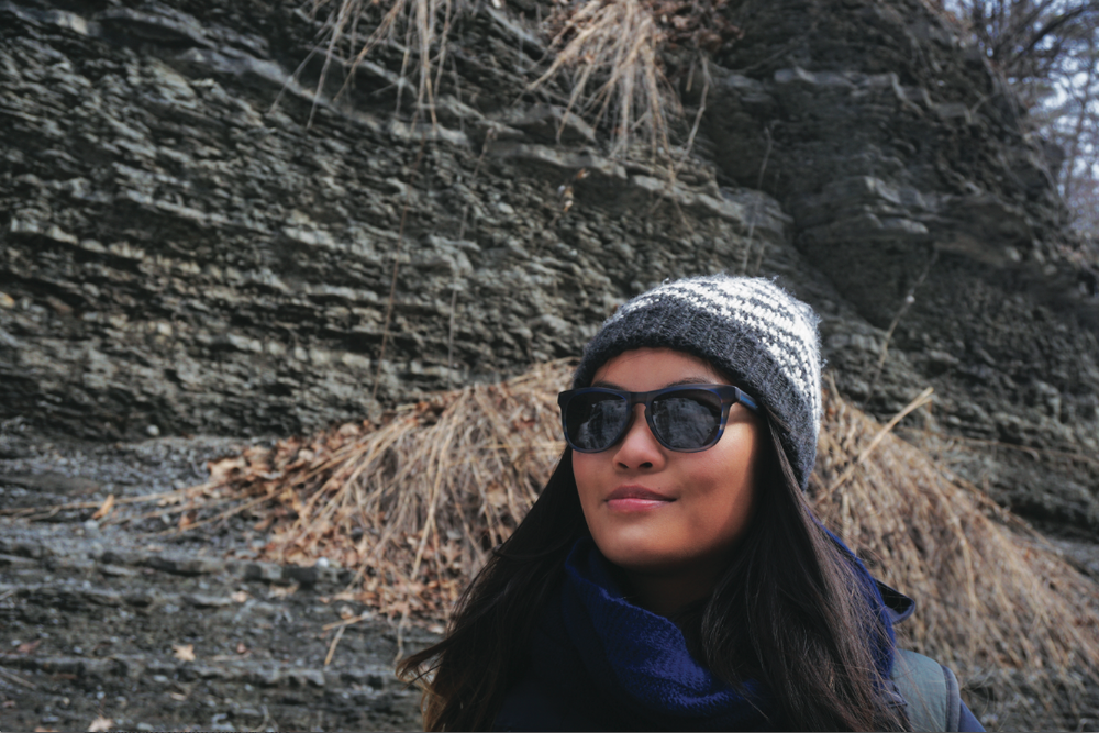 Chasing frozen waterfalls in Ithaca with #mycovry sunglasses! Can you see the reflections in my glasses?