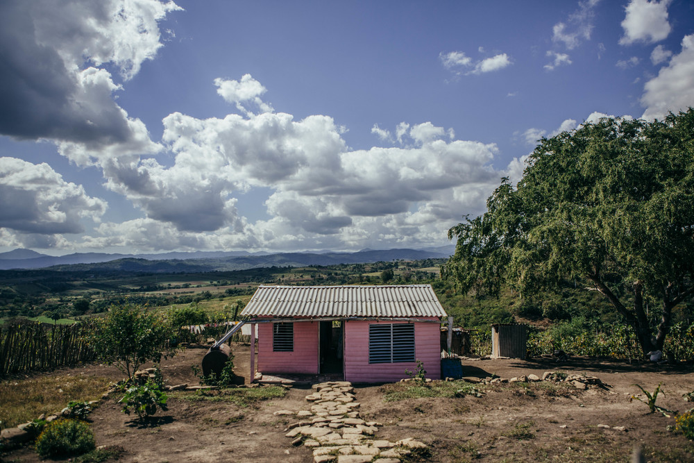 Pink House on the road to Santiago de Cuba