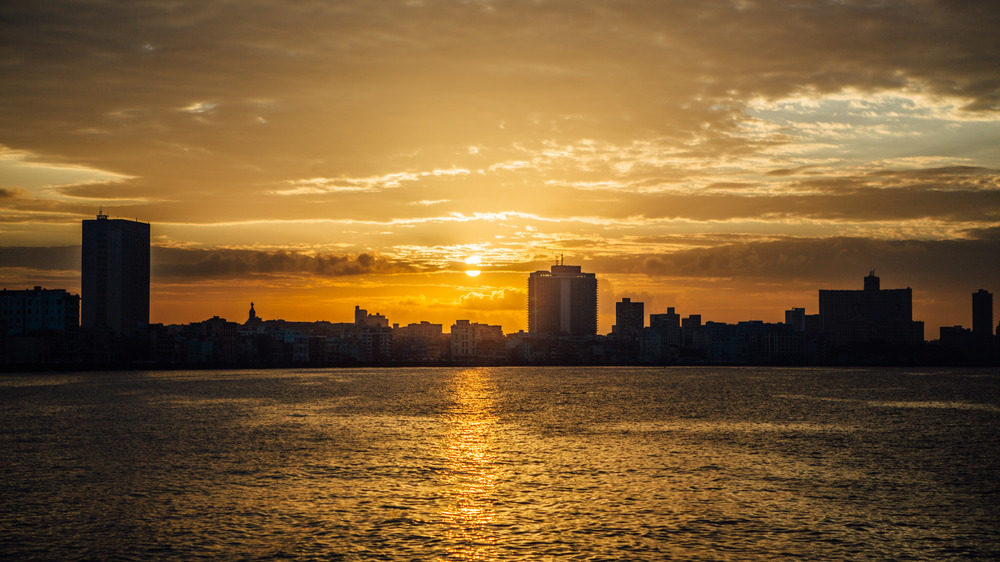 Havana skyline at sunset