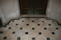 Marble floors before restoration