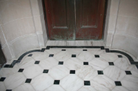 Marble floors after restoration
