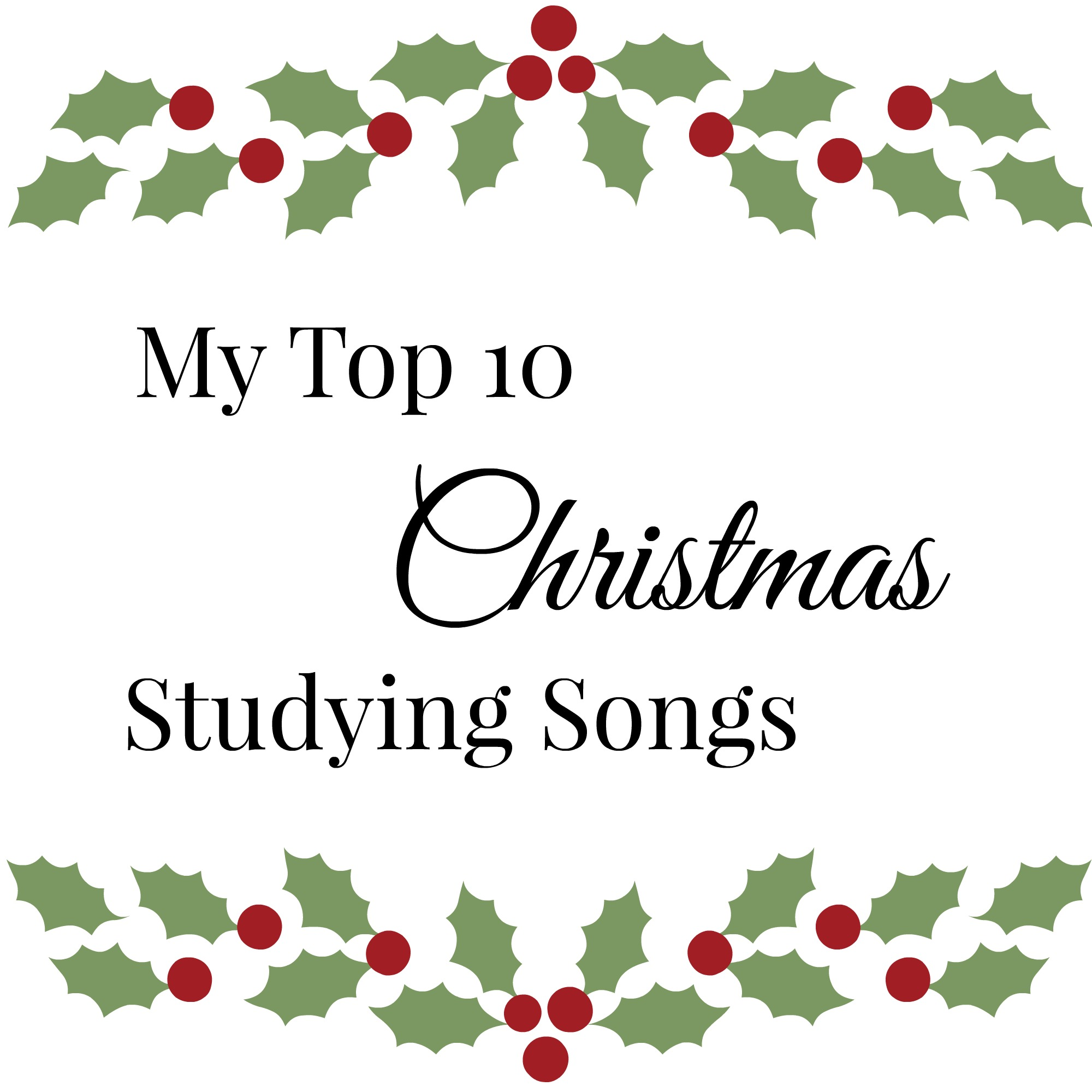 Favorite Christmas Songs | Scribbling in the Margins blog