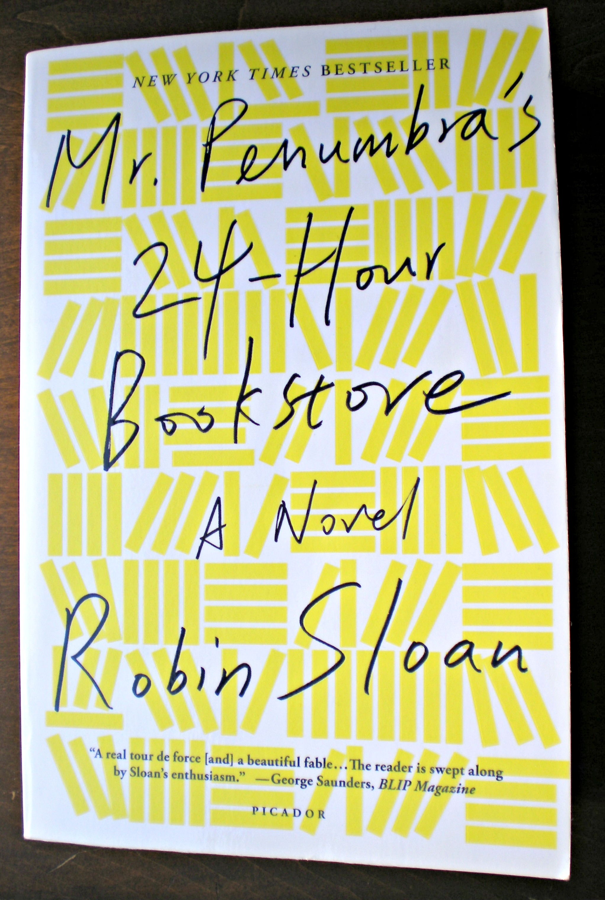 What I Read: Mr. Penumbra's 24-Hour Bookstore | Scribbling in the Margins blog