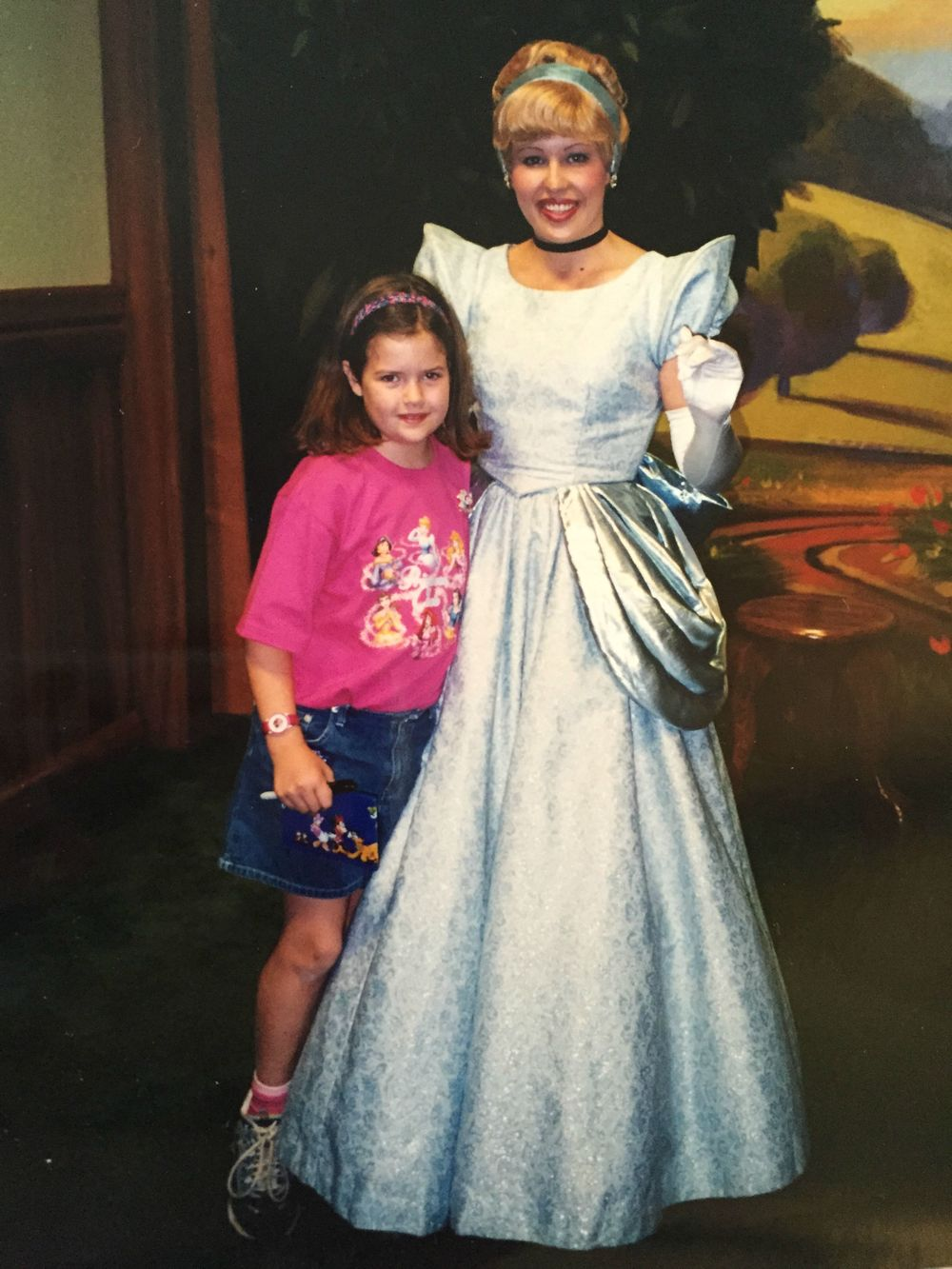 And here I am at 8-years-old FULFILLING my childhood dream of meeting Cinderella. THe line was so worth it. I hope getting to this picture was worth it too.