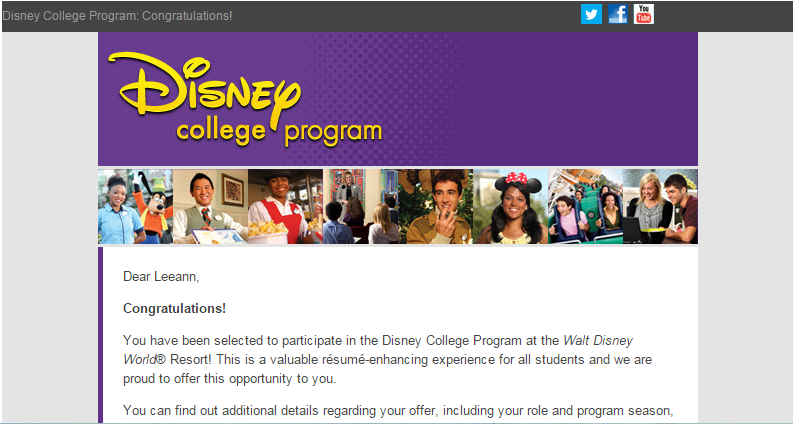 I'm Going to Disney World!