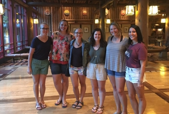 From left to right: Jenny, Lilly, Emily, me, Maggie, and Brittnee. This is right before we ate delicious food at Whispering Canyon Cafe.
