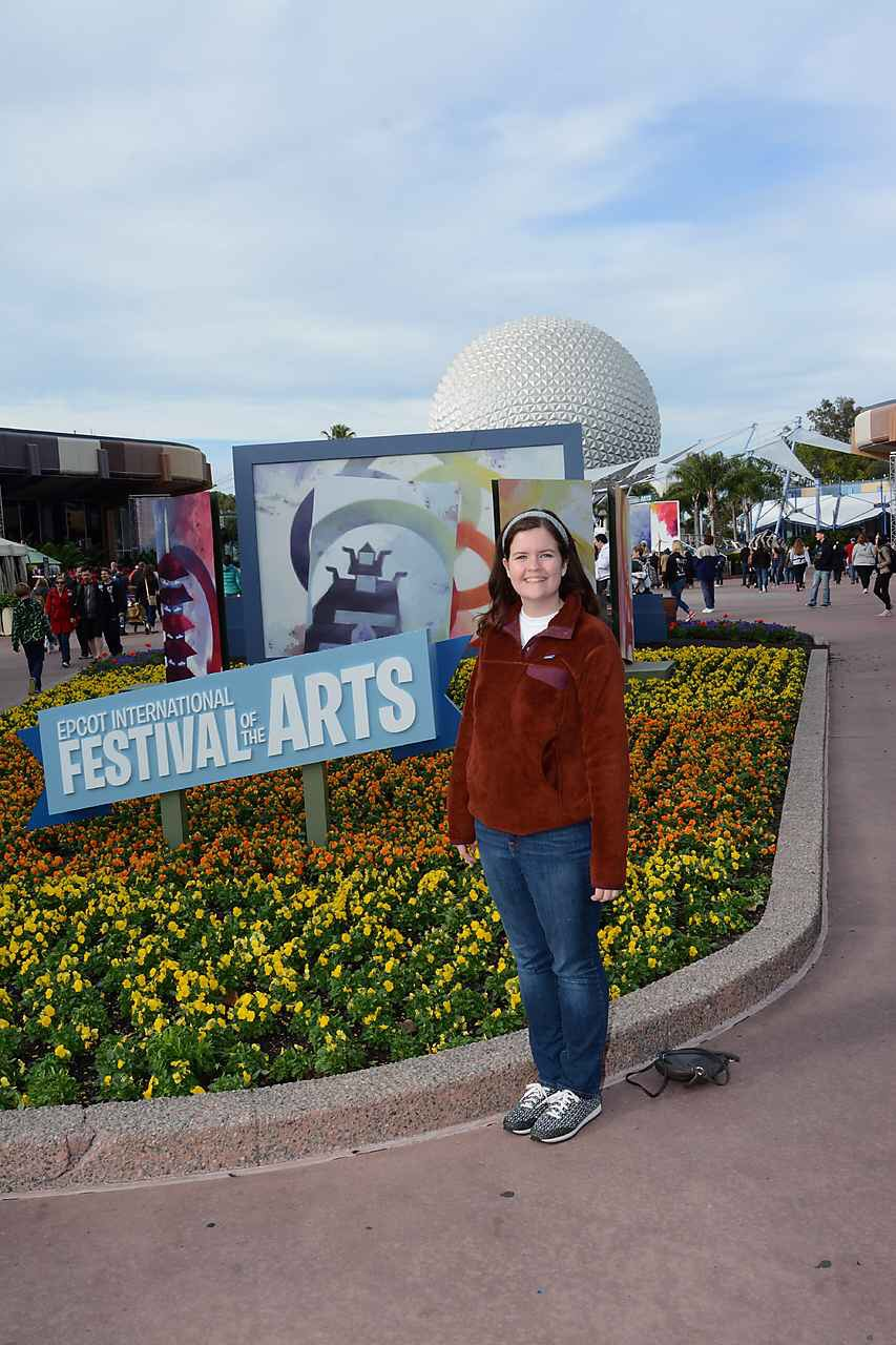 Jenny, our new resident Photopass photographer, took this lovely photo of my during a solo Epcot day.
