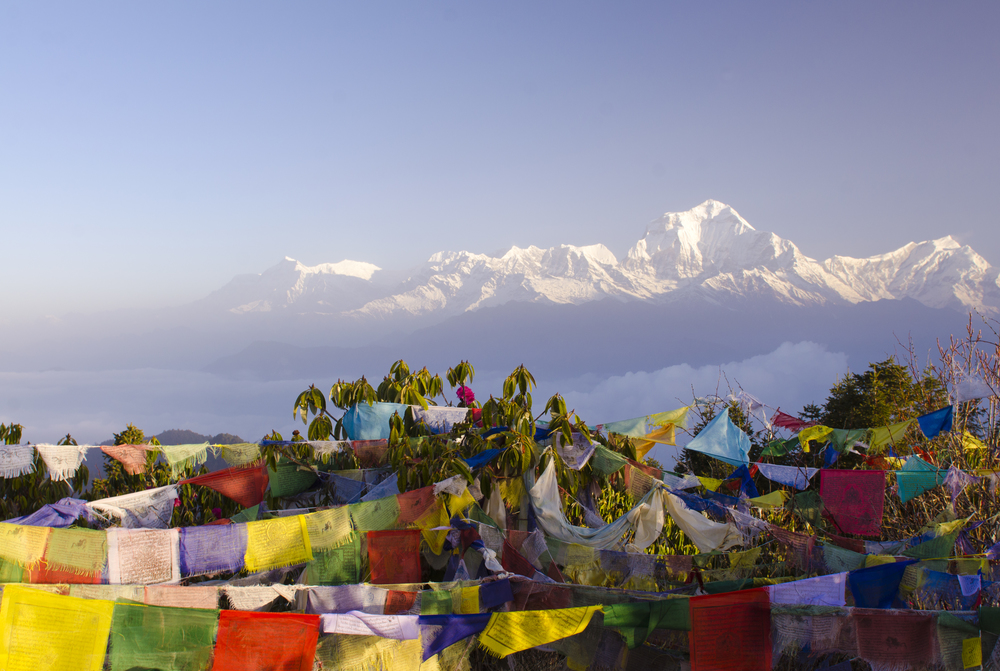 That stunning sunrise over the Himalayas viewed from Poon Hill