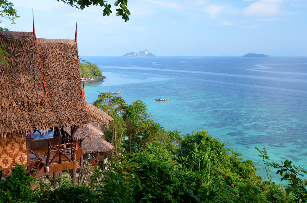 The amazing view from Phi Phi Relax Resort's hillside bungalows