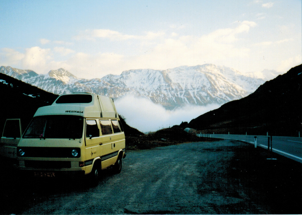 Our awesome camper van in the Alps