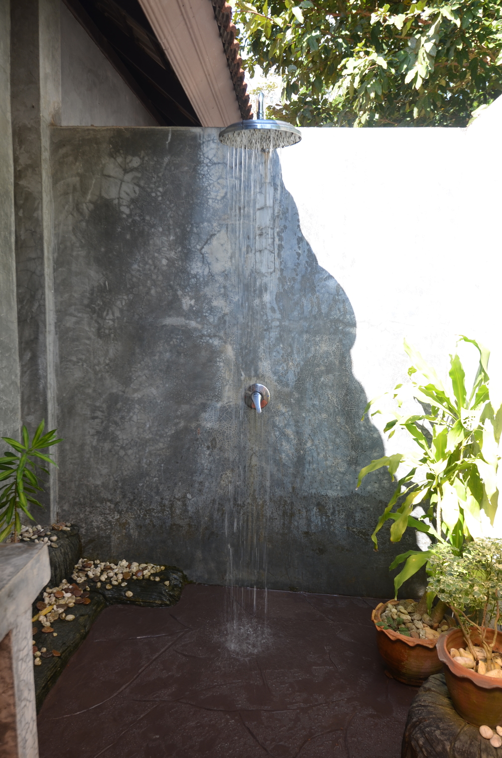 Our amazing outdoor shower