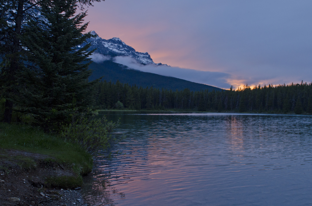 Sunset over Two Jack Lake