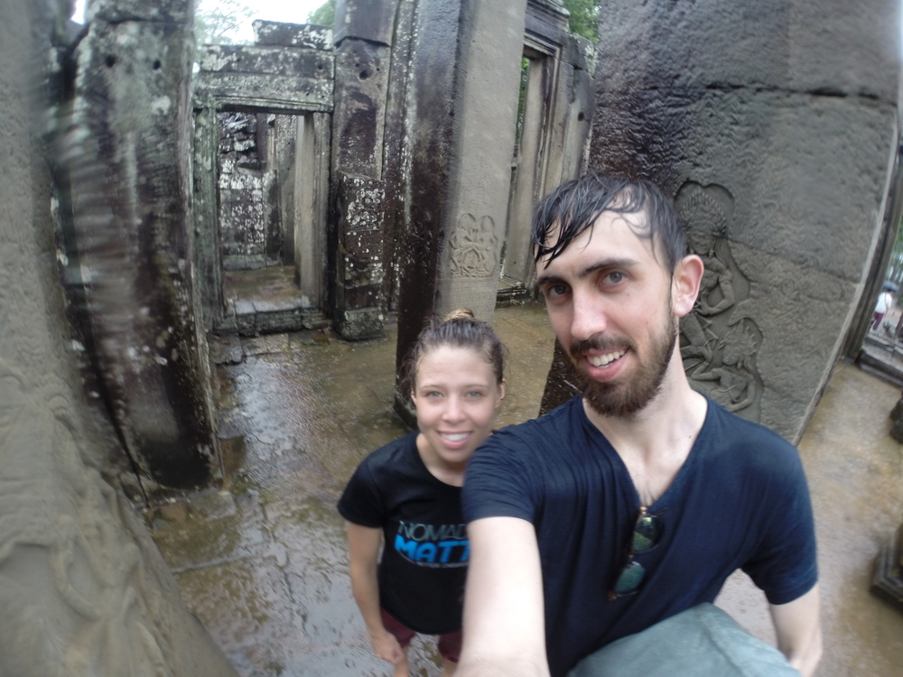 Looking like drowned rats in Bayon