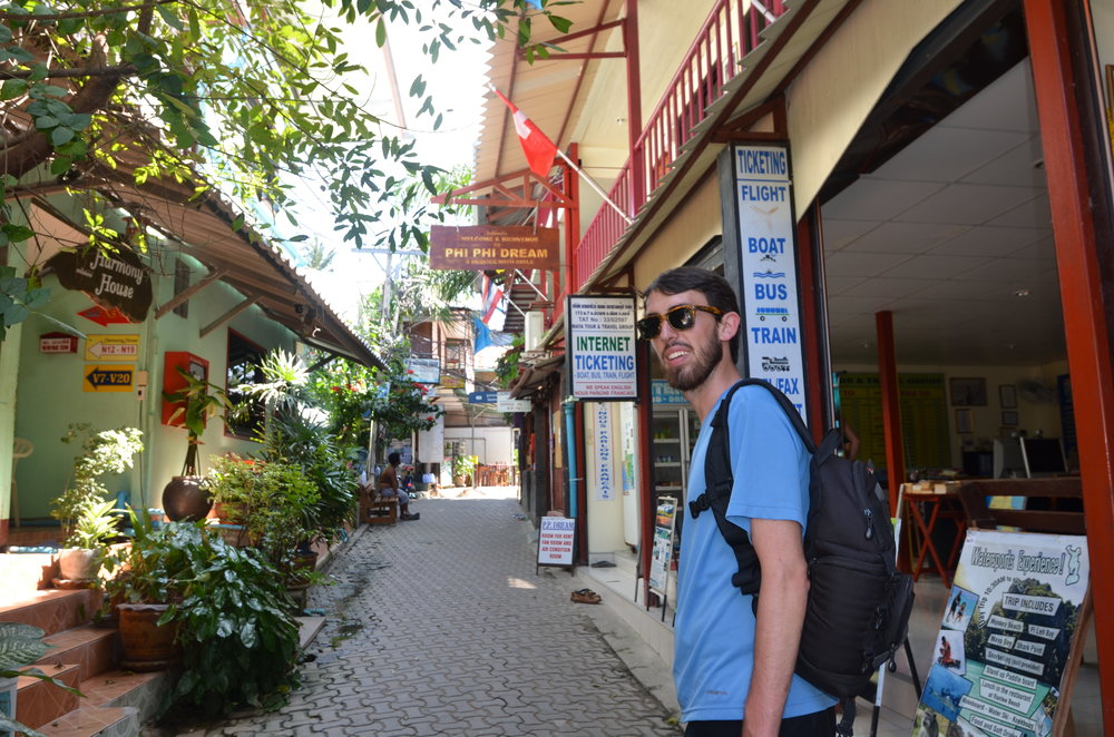 Roaming through the main strip between the two bays on Koh Phi Phi