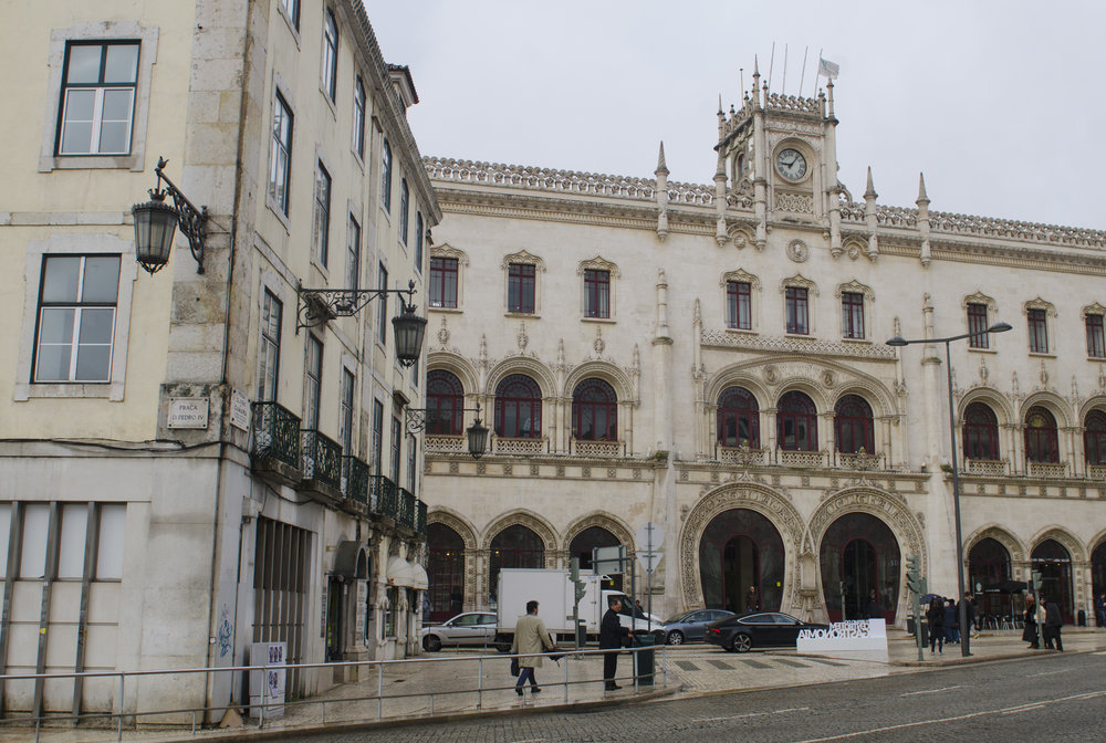 Rossio Railway Station, completed in 1890 to link Lisbon to the region of Sintra