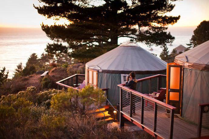 A yurt at Treebones Resort (photo credit: Treebones Resort)