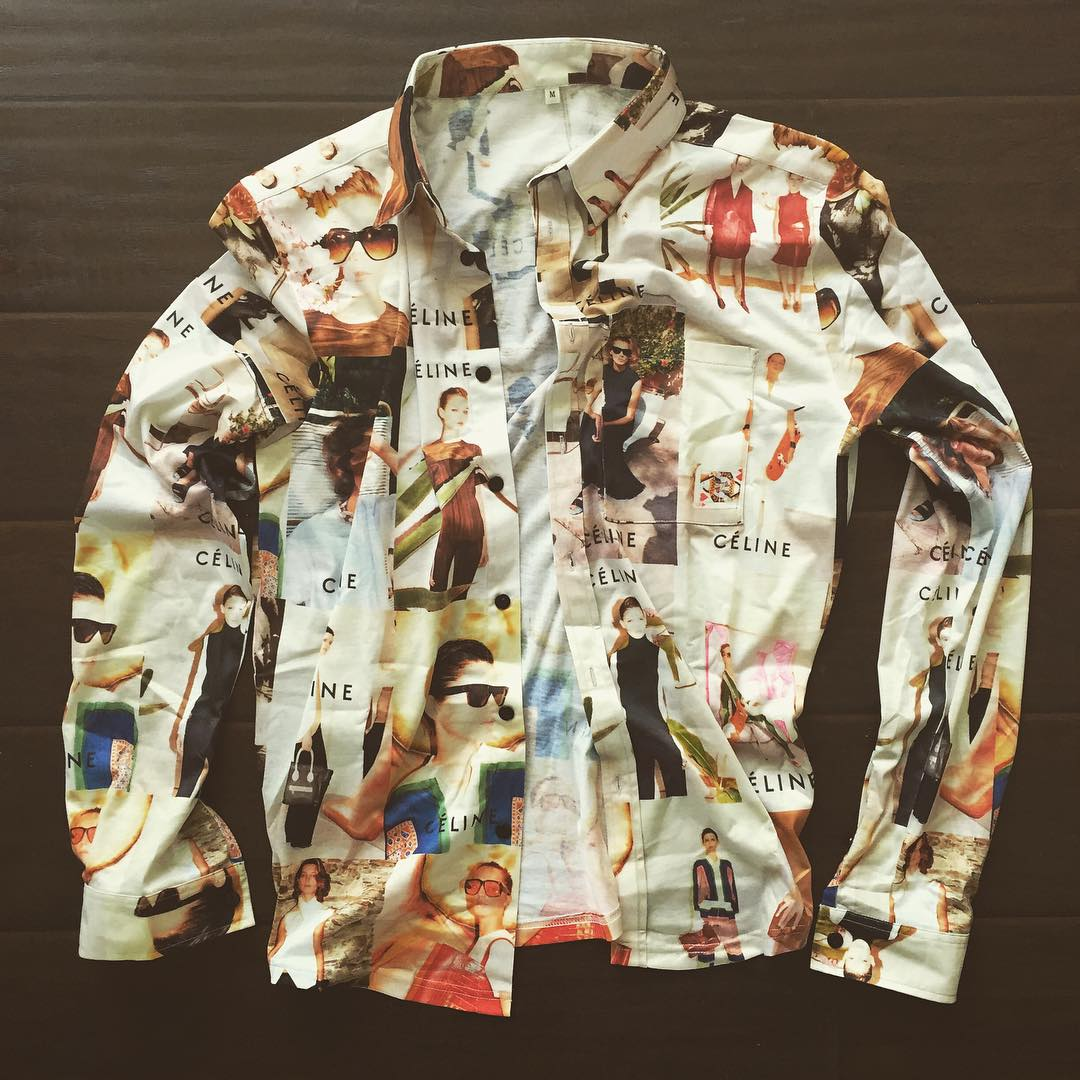 phuckindope :      hollywoodhunna :   celine button up also coming to the site soon! yeee   Fuckin' lit