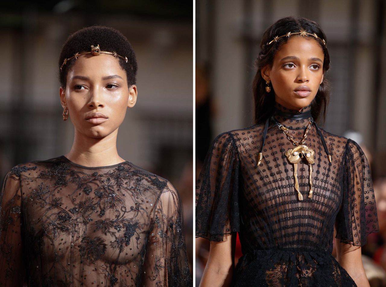 a-state-of-bliss :      Lineisy Montero & Aya Jones  @ Valentino Haute Couture Fall/Wint 2015