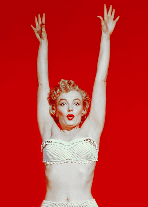 Marilyn Monroe photographed by Gene Kornman, 1952.