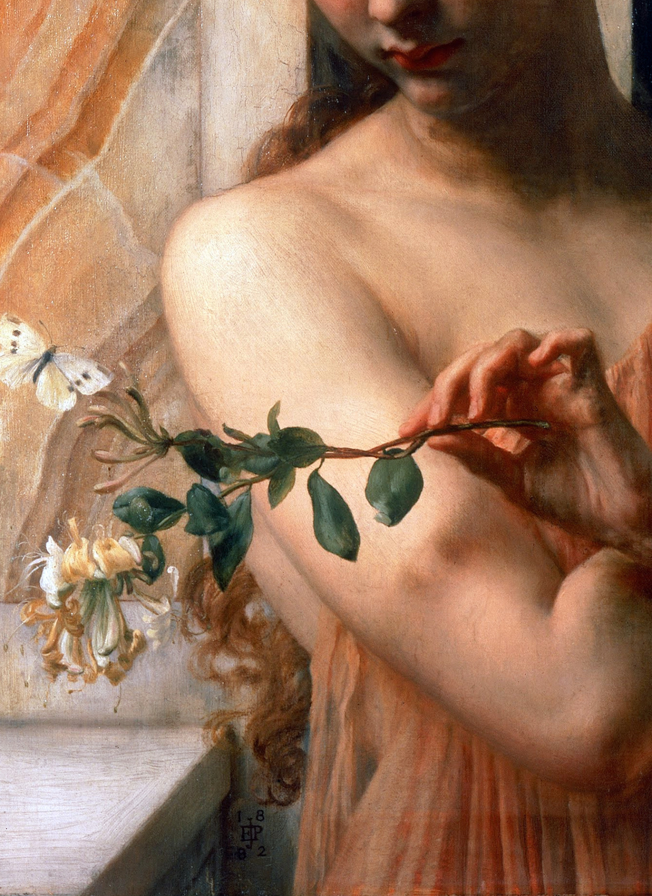 c0ssette: Edward John Poynter,Psyche in the Temple of Love,1882,detail.