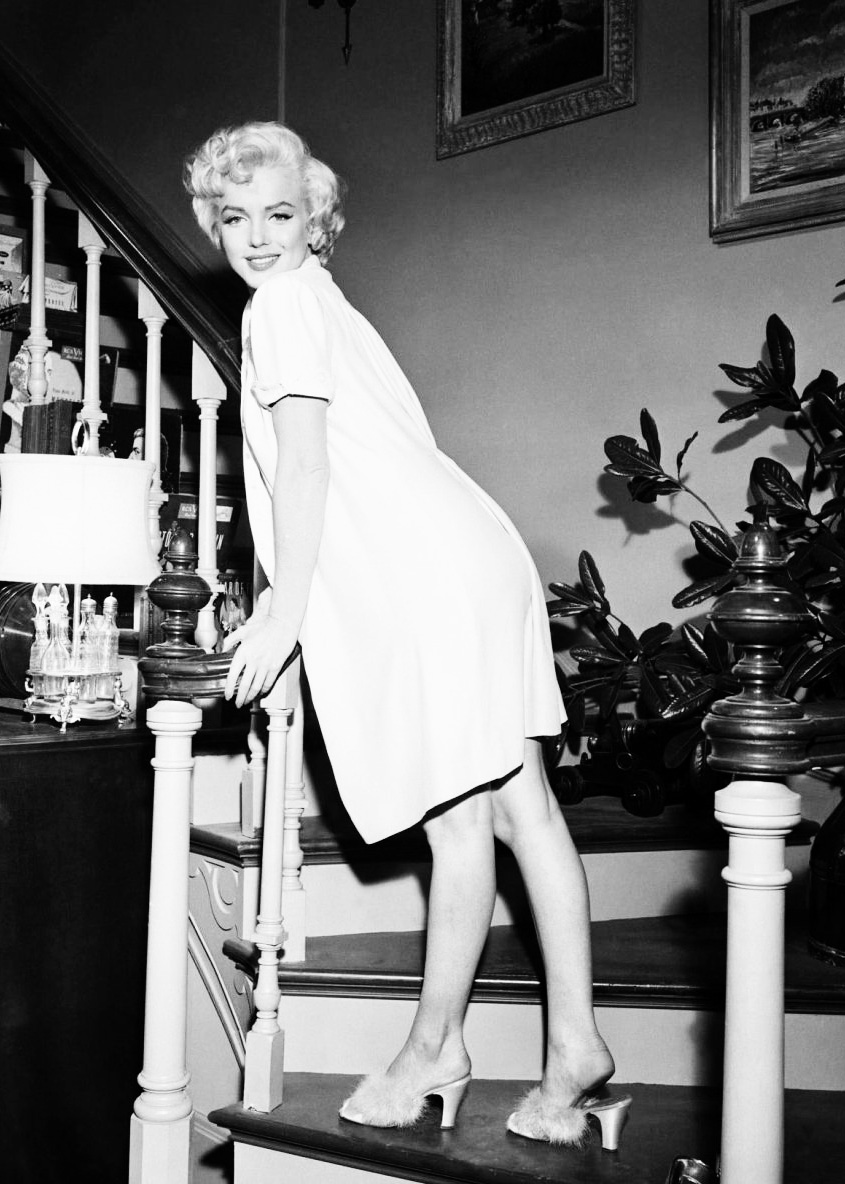 Marilyn Monroe photographed on the set of  The Seven Year Itch,  1954.