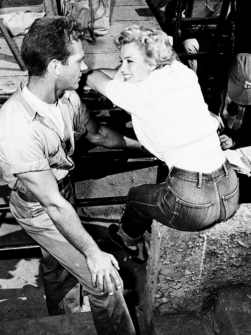 Marilyn Monroe on the set of  Clash by Night  (1952)