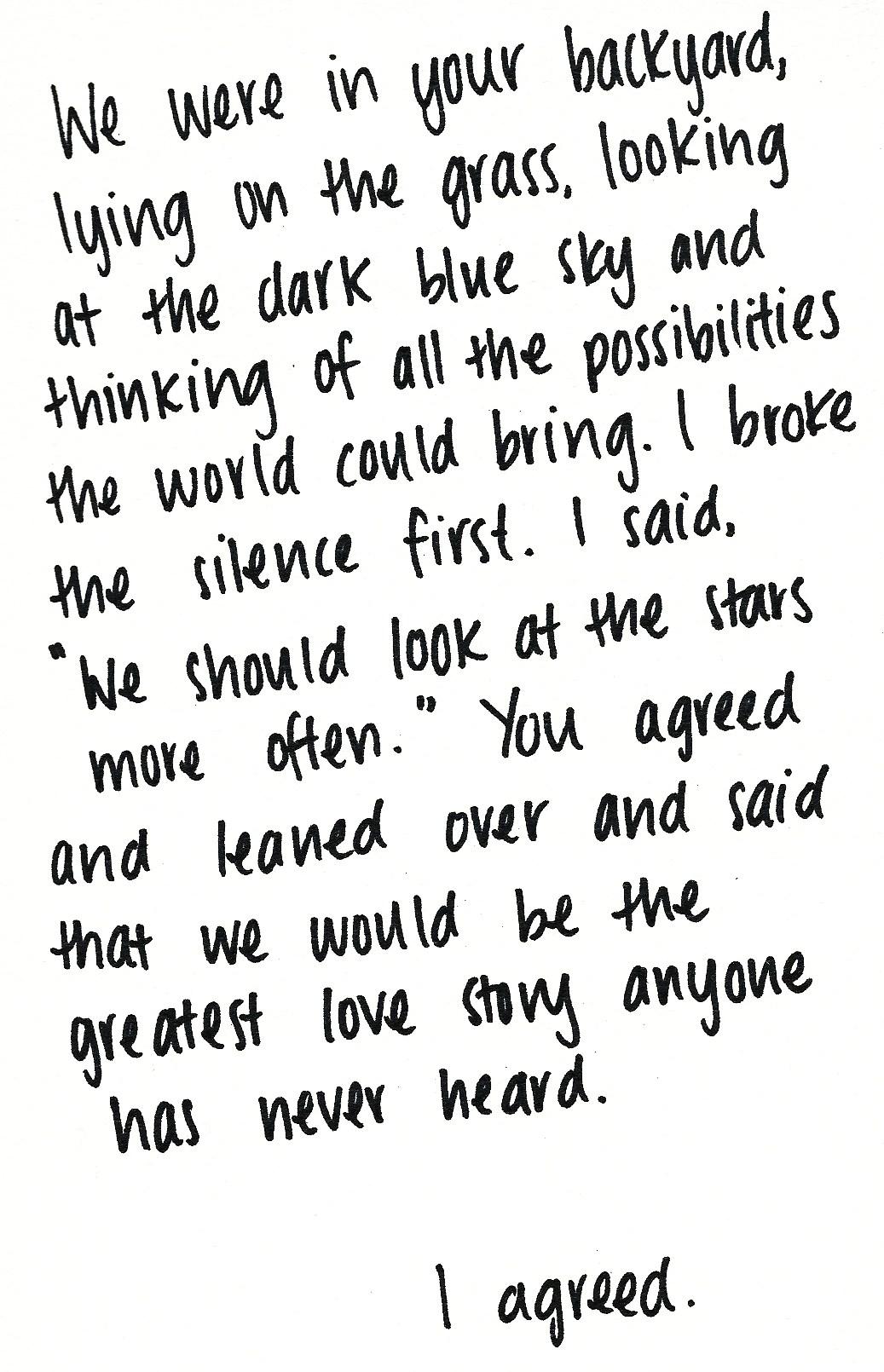 2wentysixletters :     the greatest love story no one has ever heard