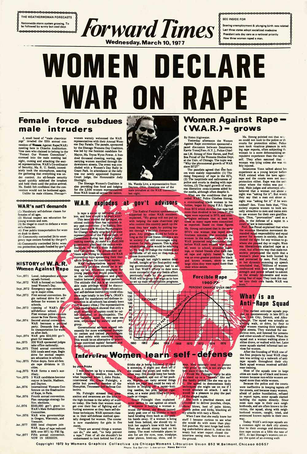 Women Declare War on Rape
