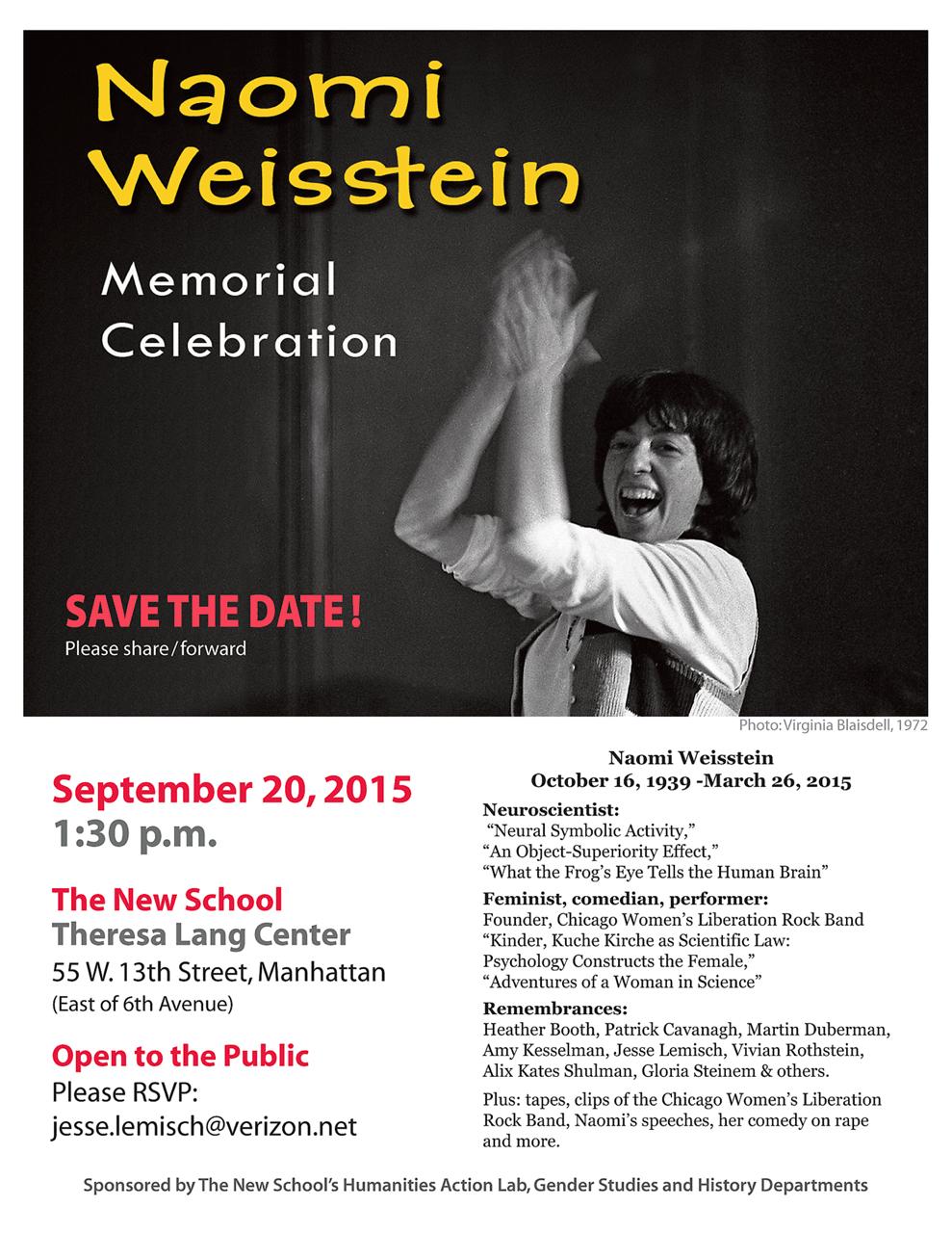 Naomi Weinstein Memorial Celebration