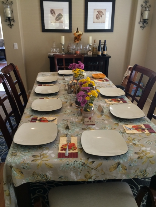 Our Thanksgivinf table this year.