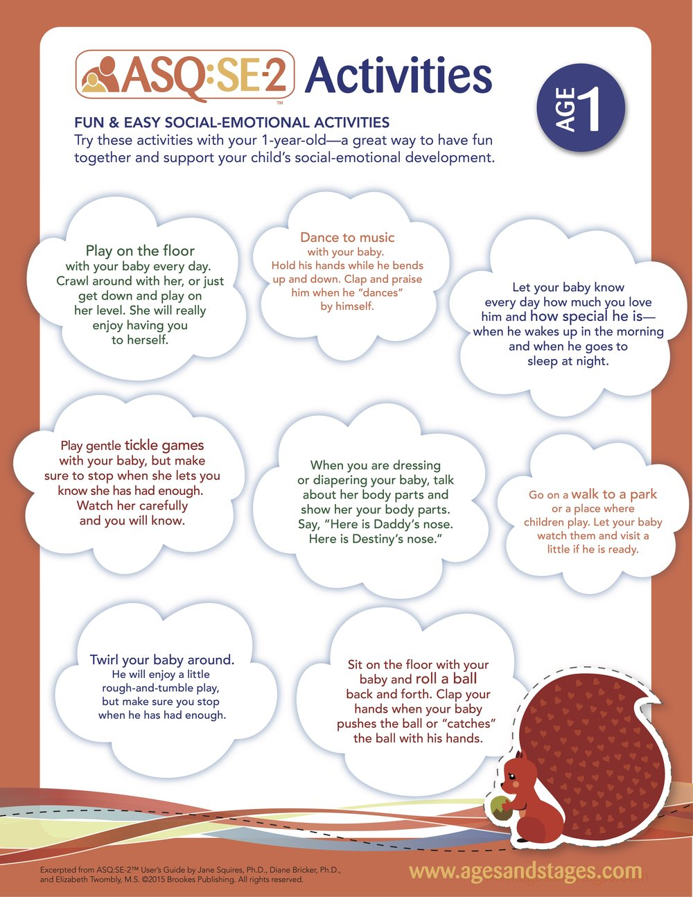 ASQ Social Emotional Activity Pack Ages 1-5 -