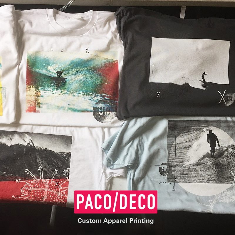 9m Apparel - PACO/DECO full and two color printing.