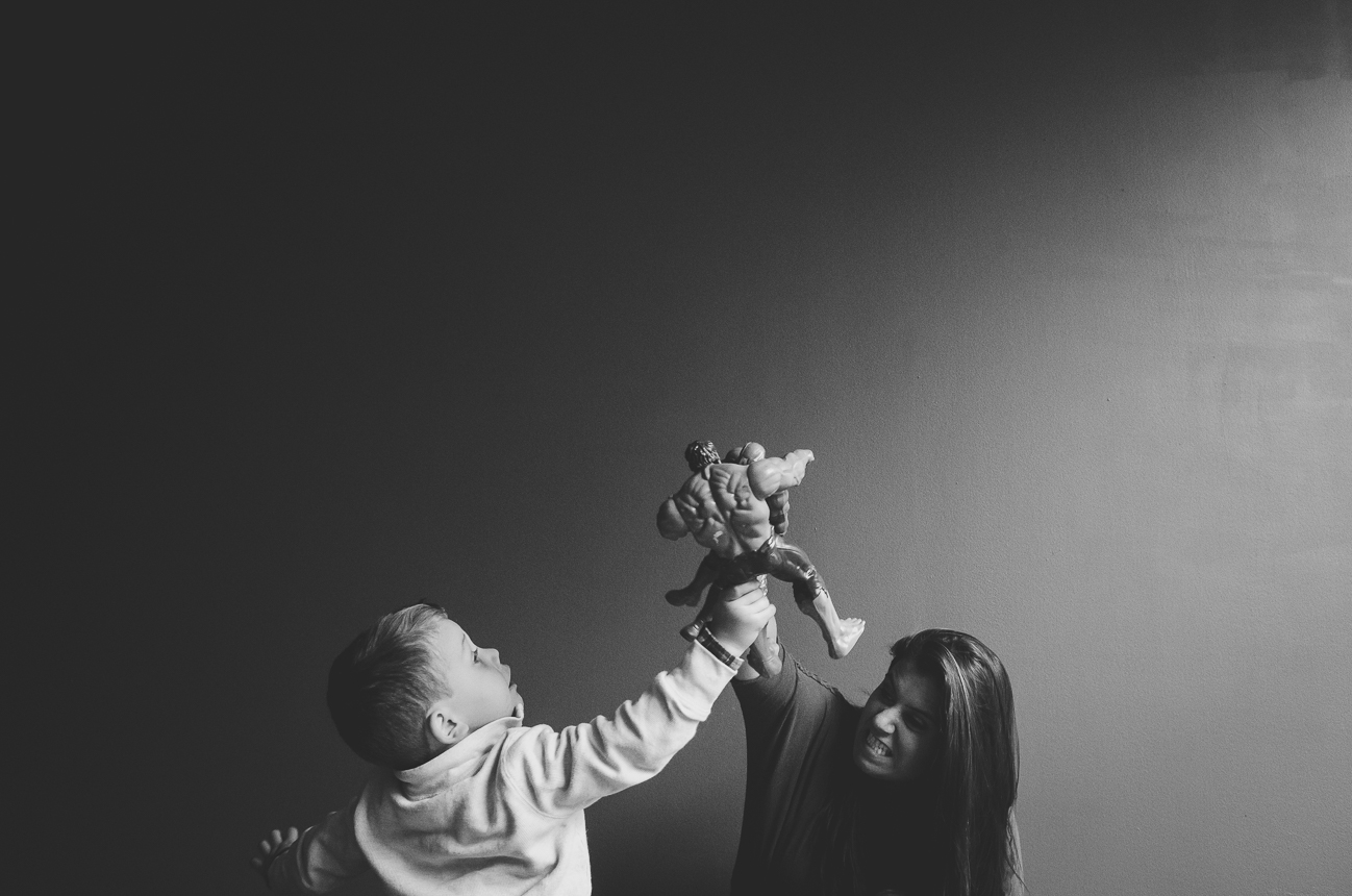 mom and son at indianapolis studio photography session