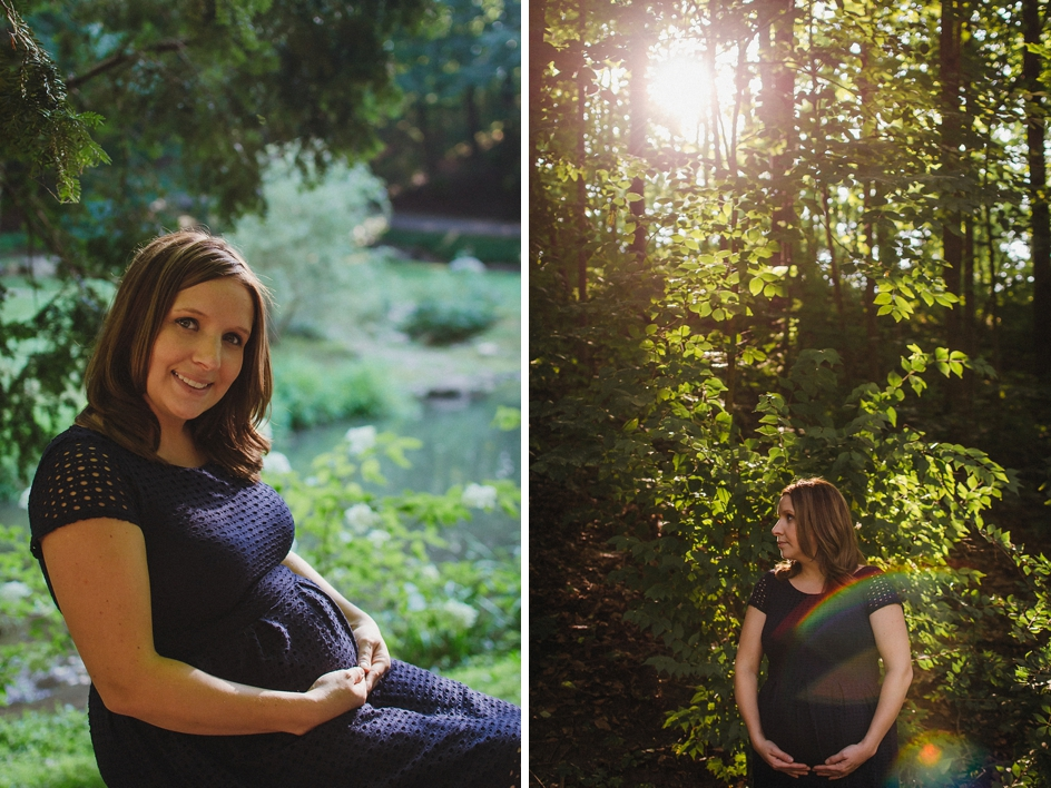 indianapolis maternity photography session at holcomb gardens