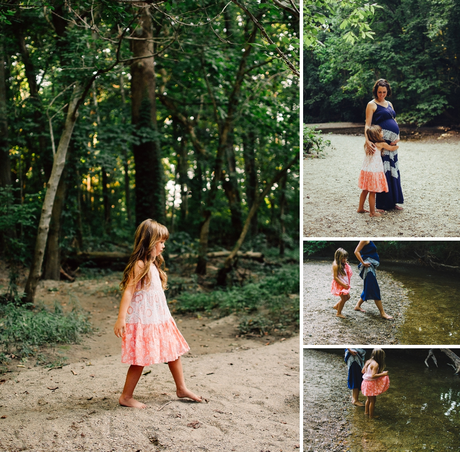 carmel maternity session at flowing well park