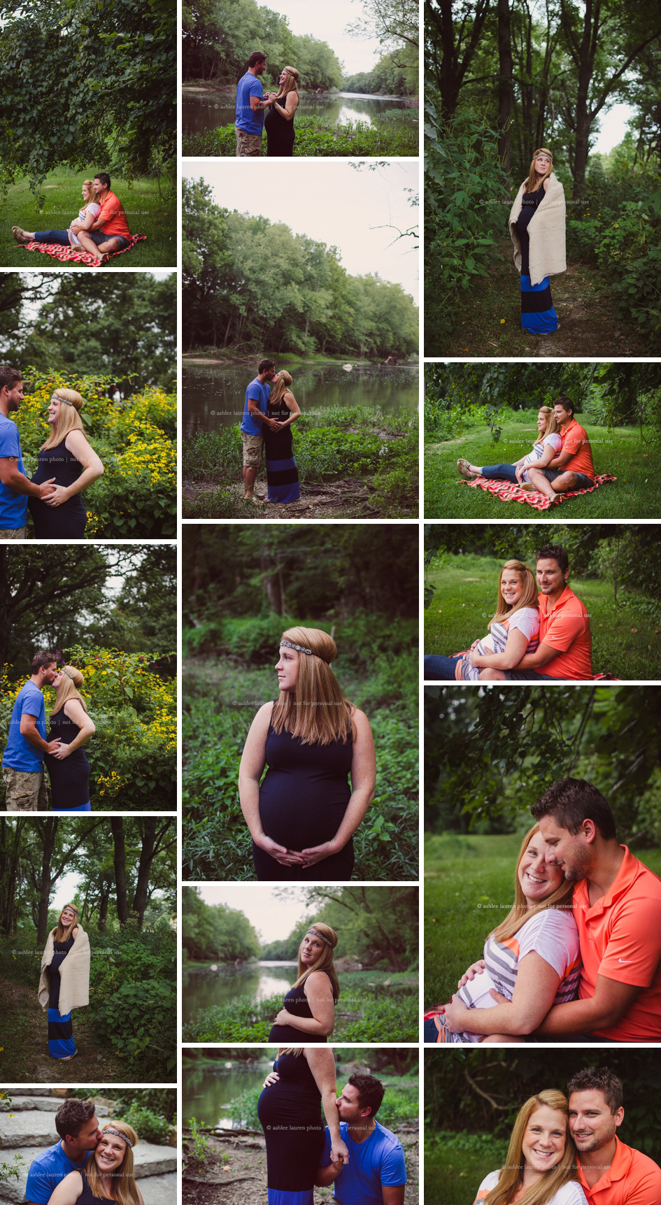 INDIANAPOLIS MATERNITY SESSION in holiday park