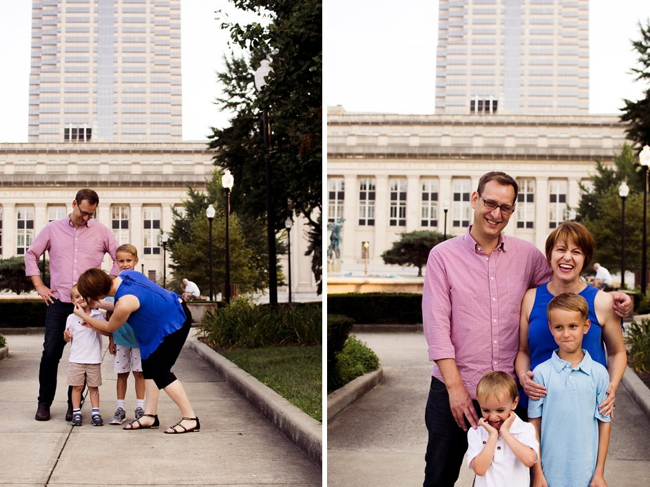 downtown indianapols family session