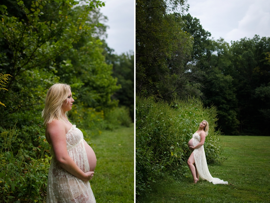 indianapolis maternity session in marott park