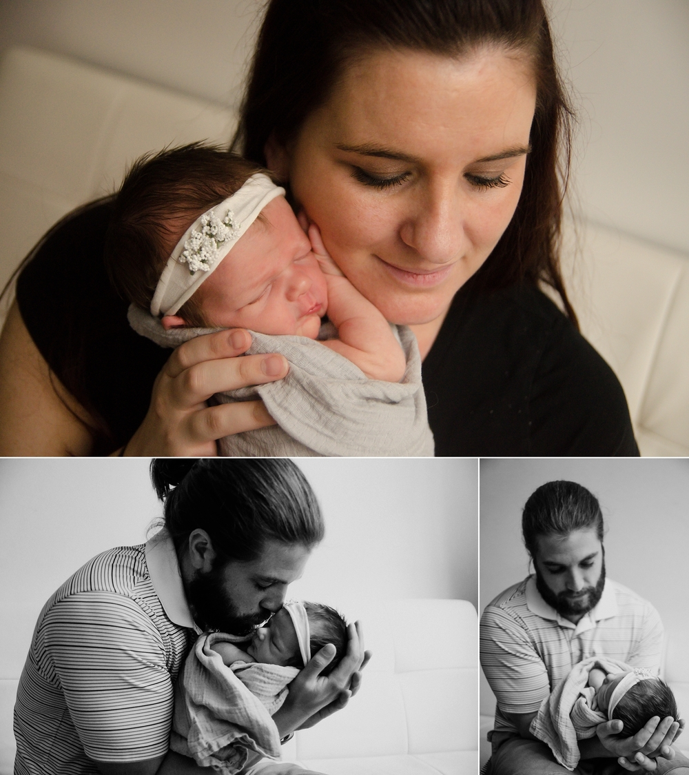 Newborn pictures with mom and dad.
