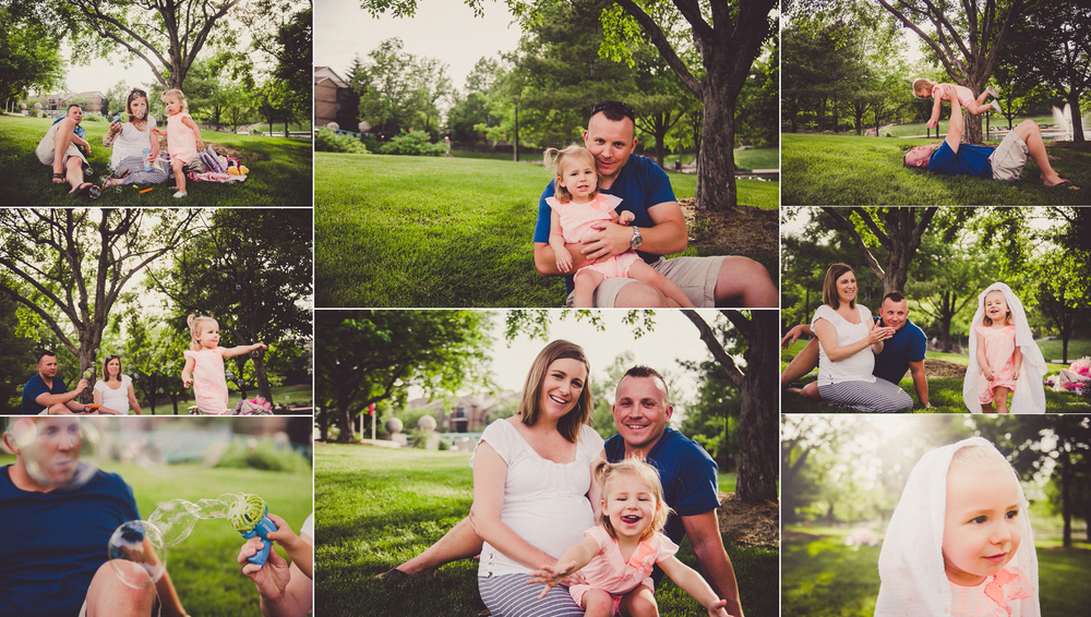 summer family portrait session along the canal in downtown indianapolis