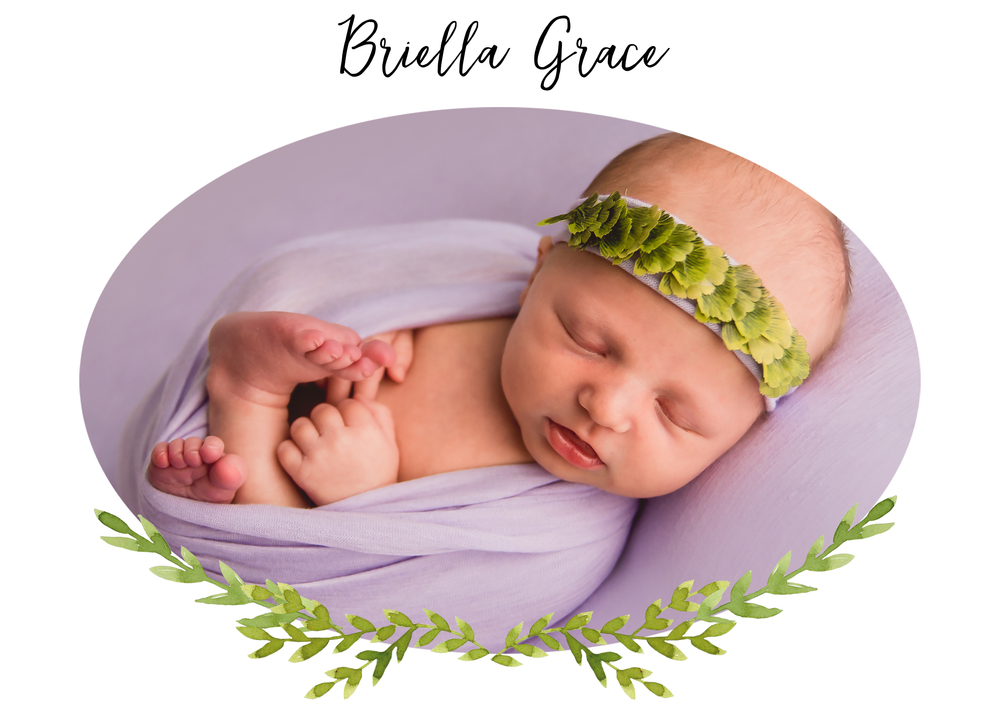 Baby Briella Grace has a newborn session in Indianapolis, IN