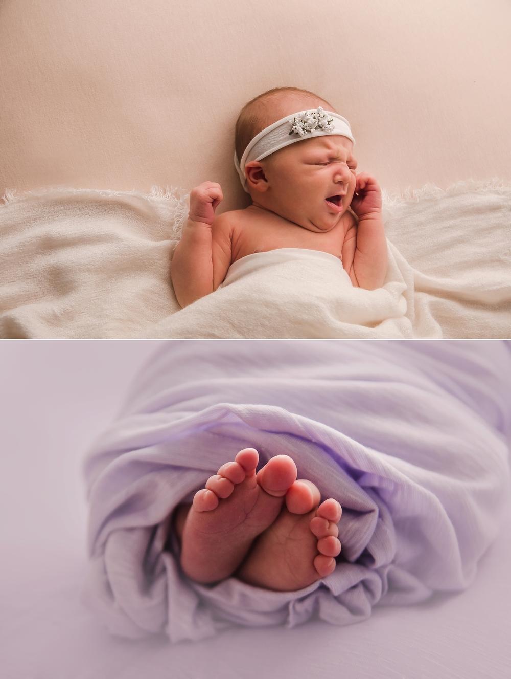 Newborn yawn