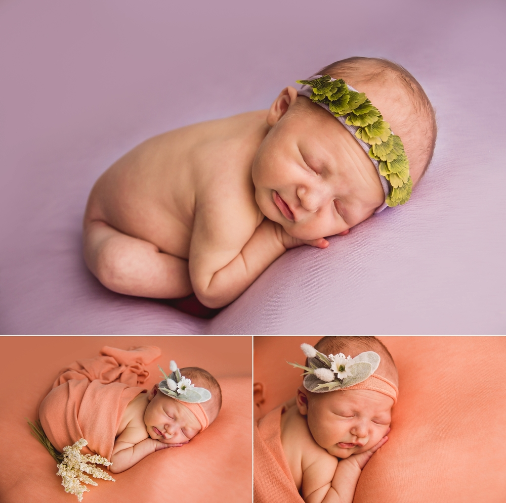 Newborn in taco pose