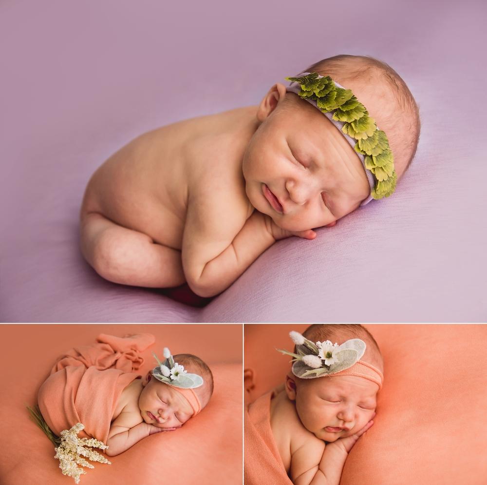 Newborn in taco pose
