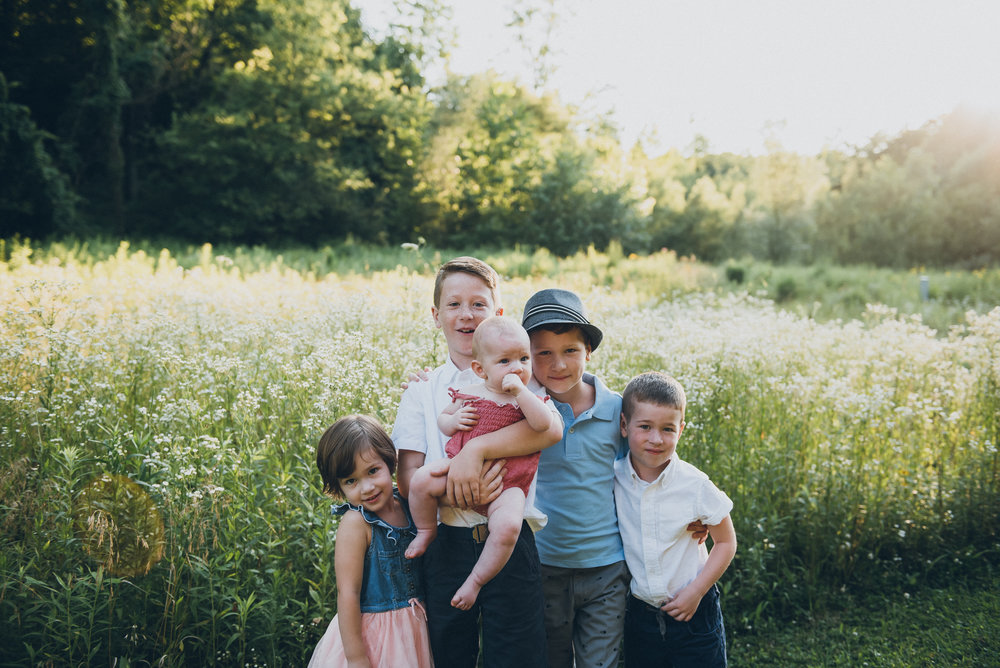 family photography in a gorgeous field
