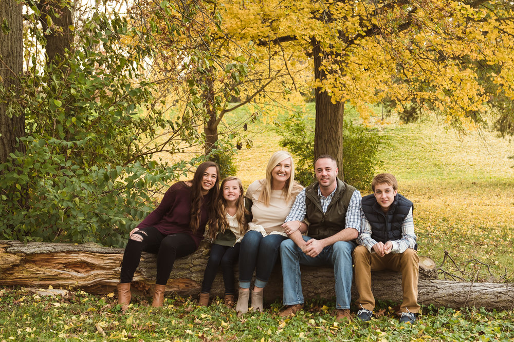 fall family photos in Indianapolis