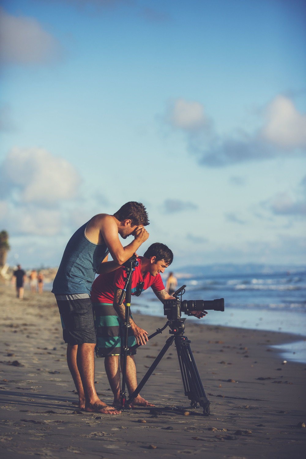 "The ""2 Matt's"" checking out a shot during our surf shoot"