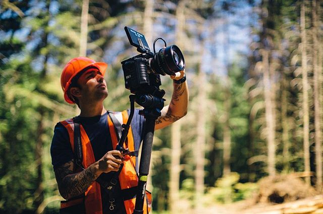 Safety first. . . . . . . . #optoutside #r3d #redepic #manfrotto #canonlens #greatoutdoors #oregon #forest