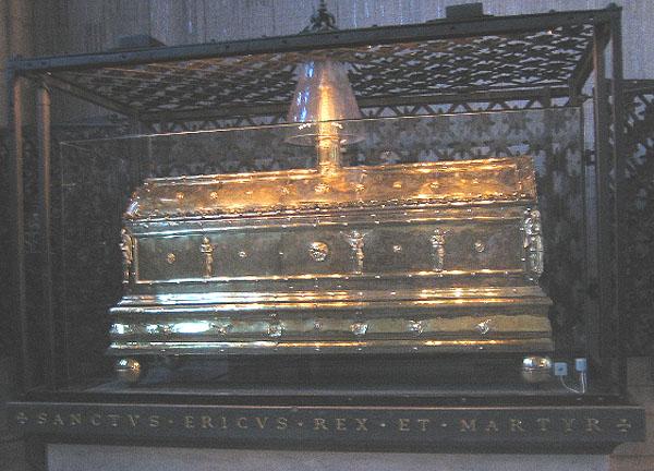 Sankt Eriks relikskrin i Uppsala domkyrka